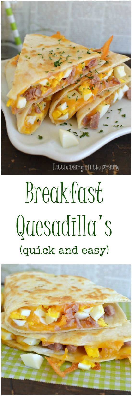 A breakfast quesadilla is what my kids get for breakfast as they are running out the door! Thank goodn