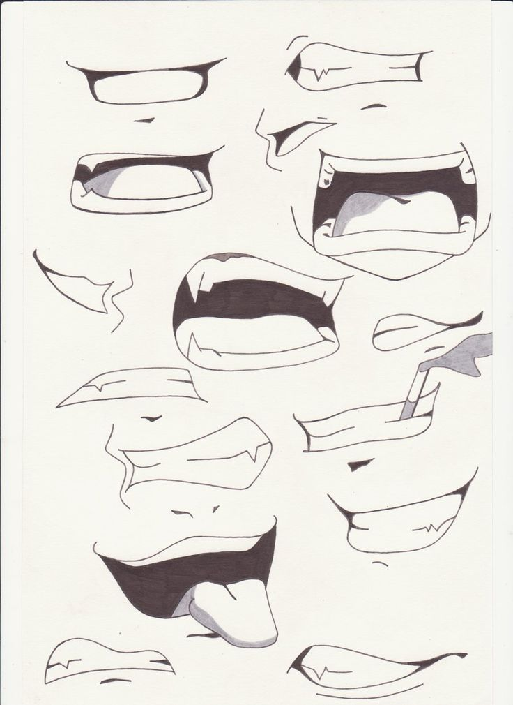 How+to+Draw+Anime+Lips | mouths i by saber xiii manga anime traditional media drawings 2012 …