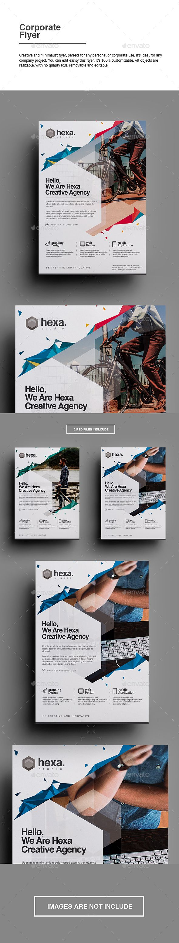 Corporate Flyer Template PSD #design Download: graphicriver.net/…