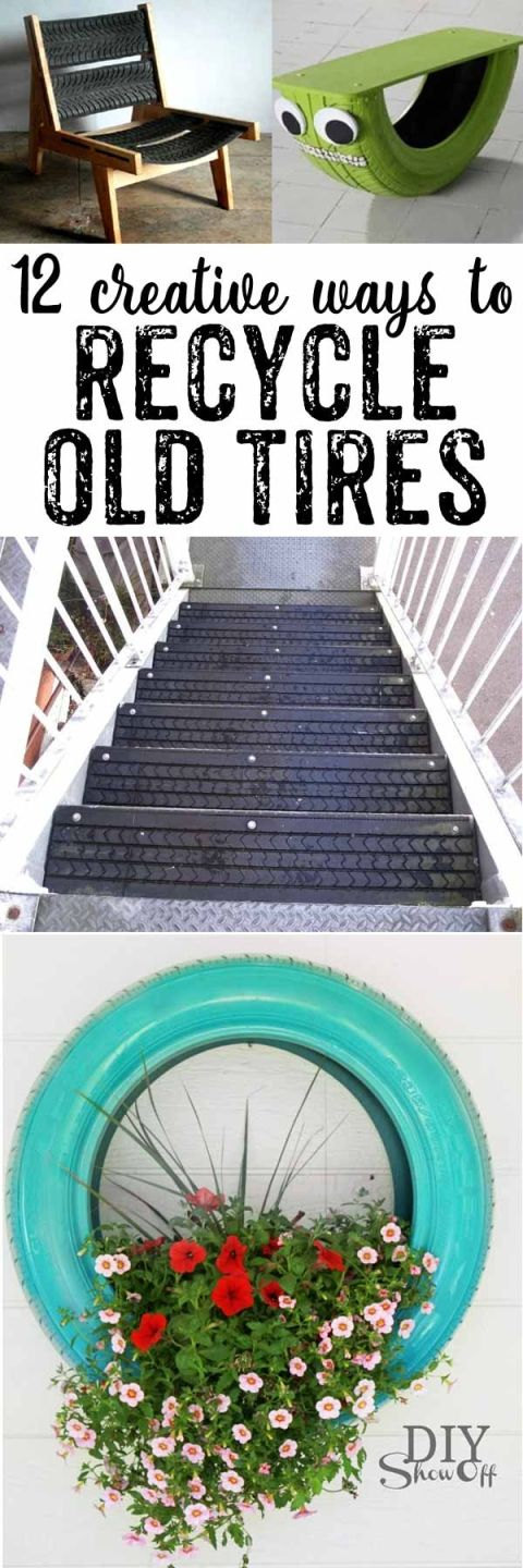 So many creative ways to use old tires! Number 5 is SO cool – I want to do it!