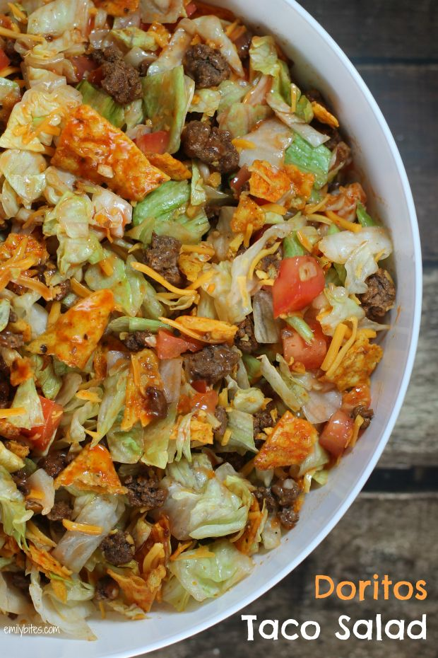 Doritos Taco Salad-My used to make this when I was younger, except I think she used to put some kind o