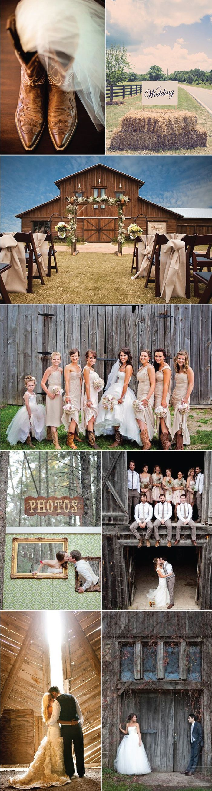 Love all these barn wedding ideas! Super cute. Not to mention the groom and his groomsmen's fashion ar