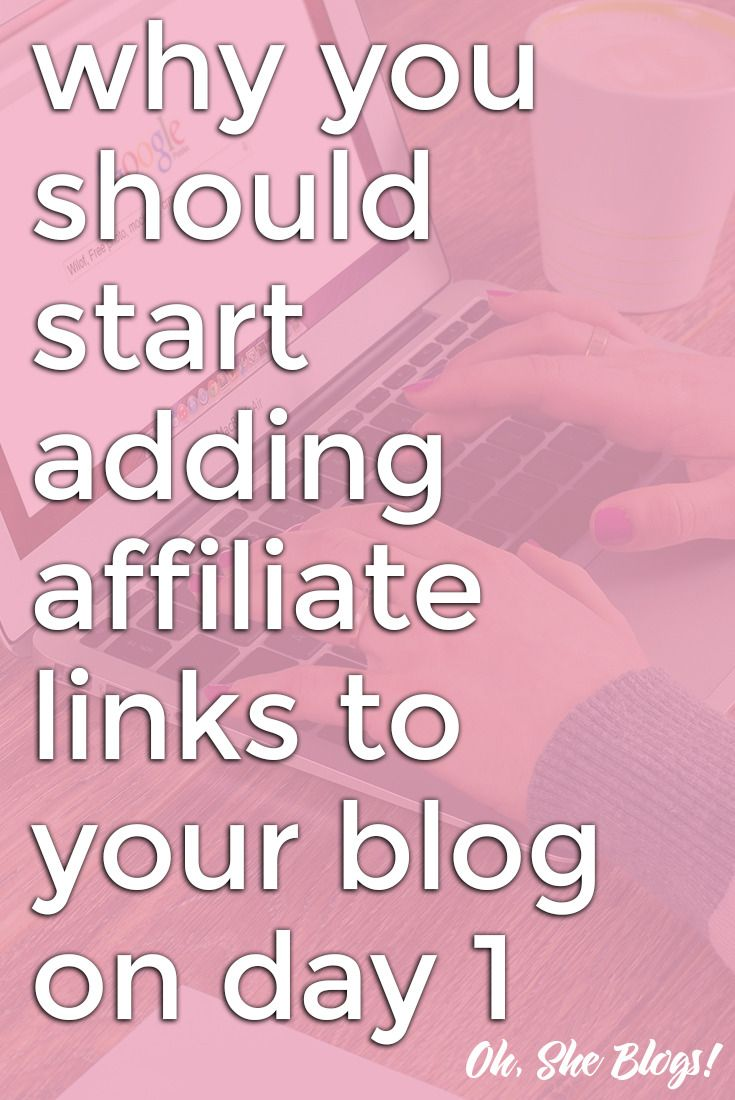 If you want to make money blogging, there's no reason to wait to start using affiliate links on your b