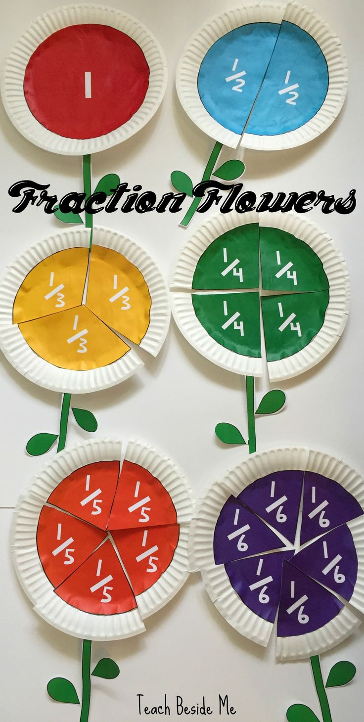 Learn fractions in a creative way by making these fraction flowers out of paper plates- includes a set