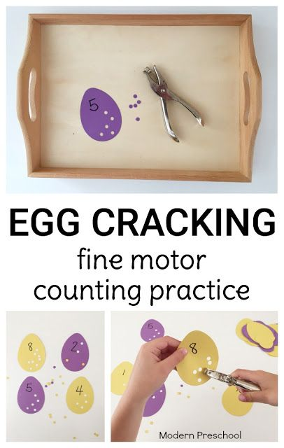 Crack those eggs! Practice counting, numbers, and fine motor skills with…