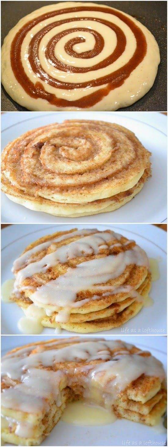 Cinnamon Roll Pancakes ~ These pancakes are FABULOSITY! Ive now made them 3 weekends in a row bec