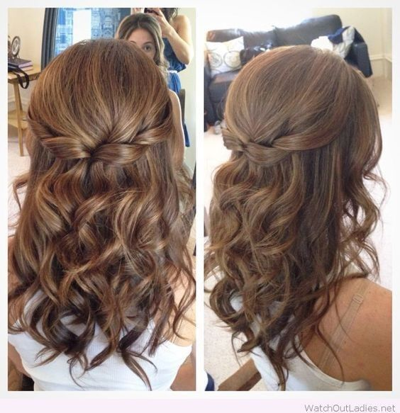 Half Up Half Down Hair with Curls – Prom Hairstyles for Medium Length Hair
