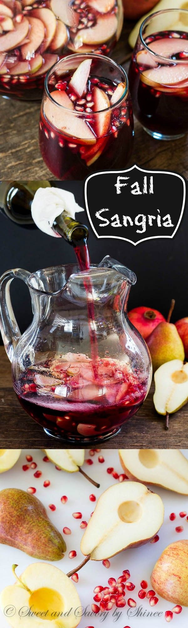 My fall sangria, filled with apples, pears and pomegranates, is absolutely delicious drink you can enj