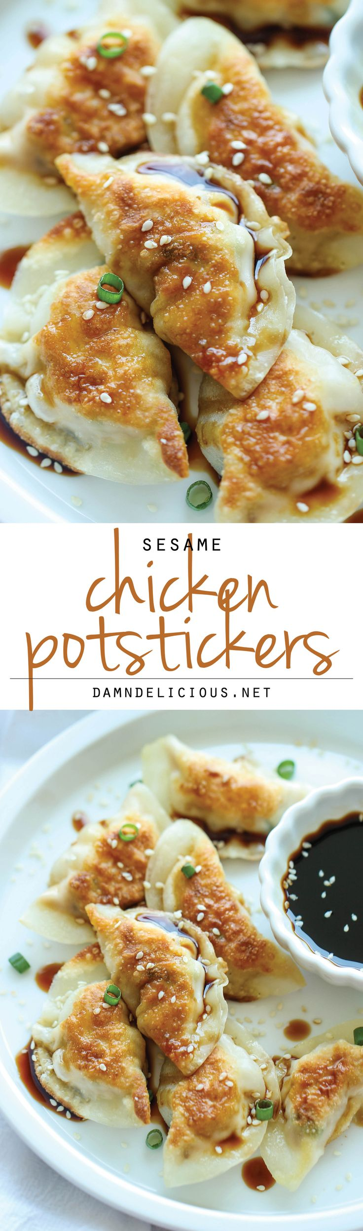 Sesame Chicken Potstickers – These are unbelievably easy to make. And theyre freezer-friendly too