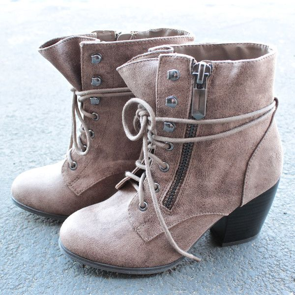 One of our customers favorite is back! Stylish ankle boots that features a side zip, laced up fro