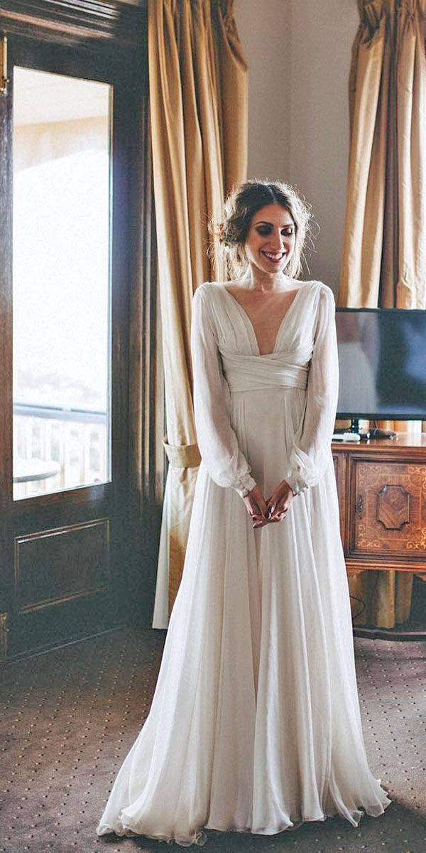 Simple Wedding Dresses For Elegant Brides ❤ See more: www.weddingforwar… #weddings