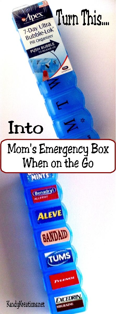 Make a quick and easy emergency first aid kit for your purse when you are on the go.  Filled with the