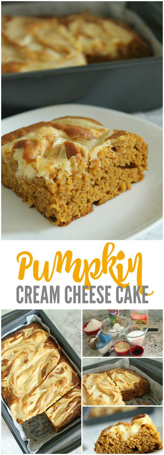 Pumpkin Cream Cheese Cake! Easy Dessert Recipe for Fall and Thanksgiving! One of my NEW favorite Fall