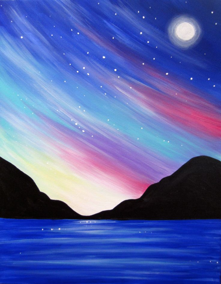 Cant wait to paint this Celestial Seascape with Lori next month!