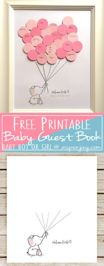 Free Elephant Baby Shower Guest Book Printable. SUPER cute! And you can even custo