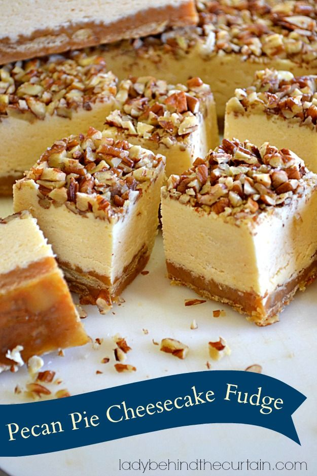 Pecan Pie Cheesecake Fudge Recipe ~ Says:  a salty crunchy crust made with saltine