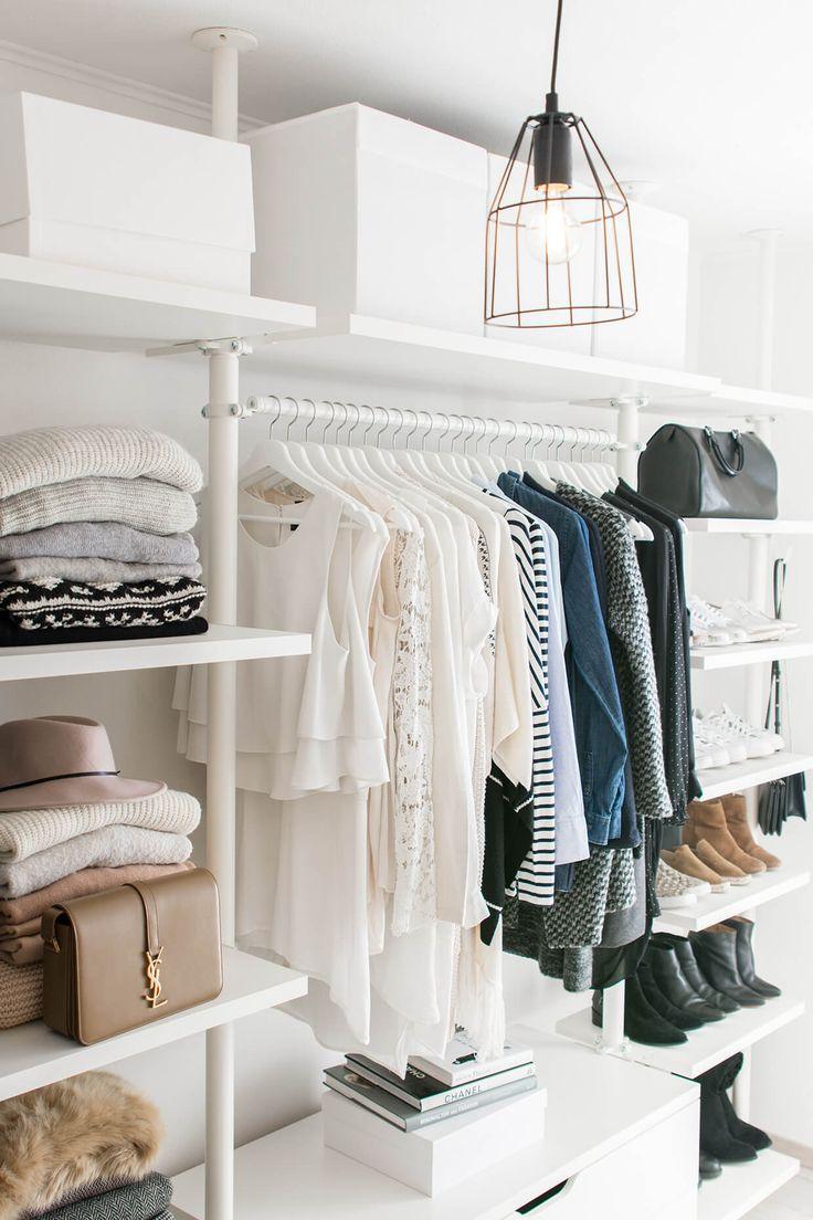 walk in closet- dressing room – IKEA – Stolmen – Ankleidezimmer – industrial lamp