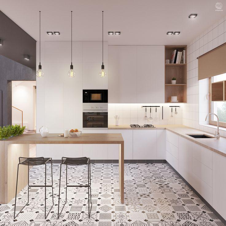 Zrobym Architects   kitchen project   Vives Azulejos y Gres   Octogono Variette So