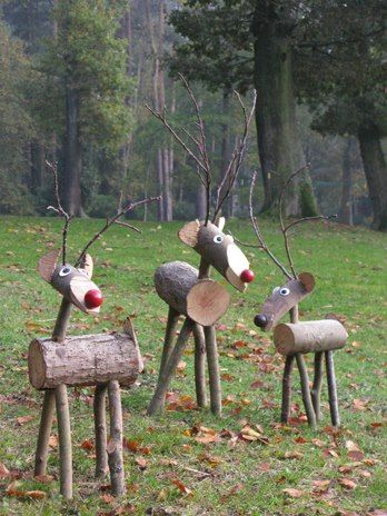 rustic reindeer. Another example of rustic that works. They look alive, right? A v