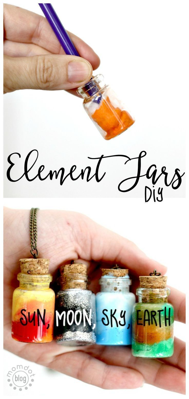 Element Jars: Create Sun, Moon, Earth, and Sky in these fun DIY Element Jar Neckla