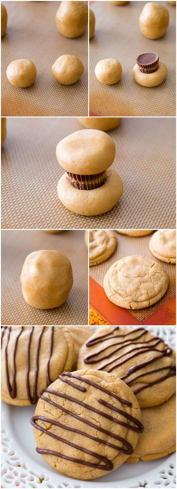 Reese's Stuffed Peanut Butter Cookies. Soft, chewy, and overloaded with peanut but
