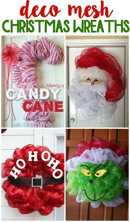 Fun deco mesh christmas wreath ideas to make!