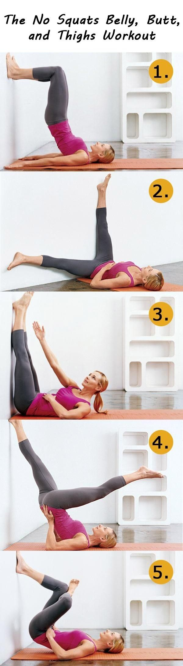 With this workout routine you will be able to flatten your belly, slim your thighs