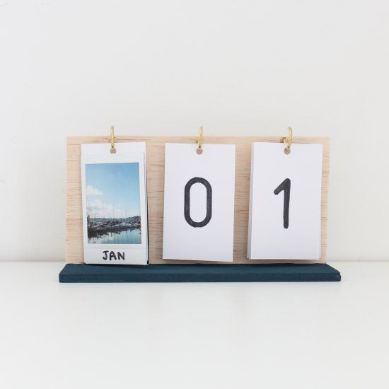 Make your own flip calendar using instax prints and some hooks. Perfect for the…