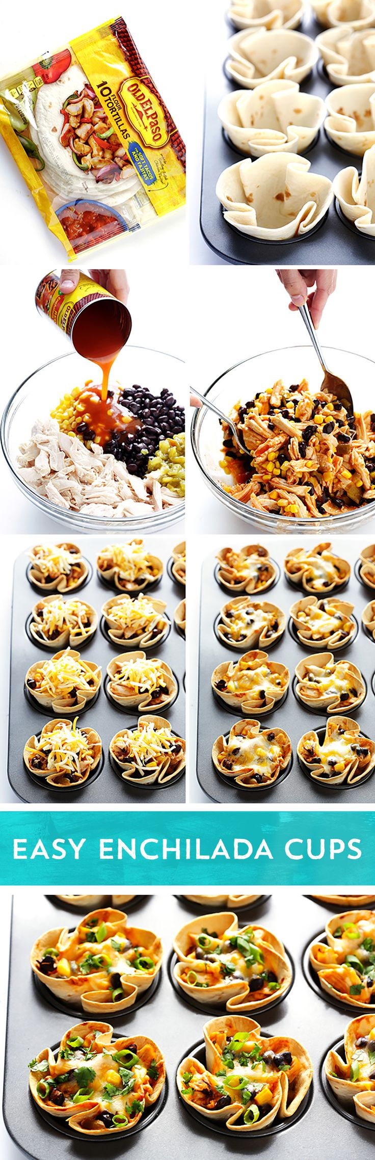 Try something new for taco night! These Easy Enchilada Cups from @Ali Ebright (Gim