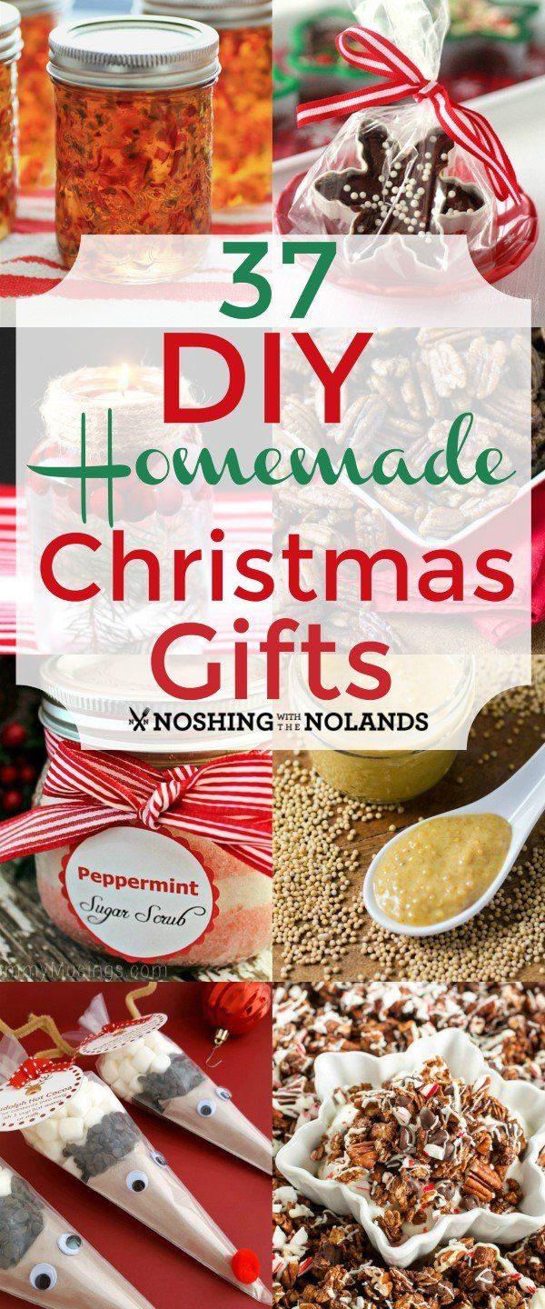 37 DIY Homemade Christmas Gifts from Noshing With The Nolands will be a great help