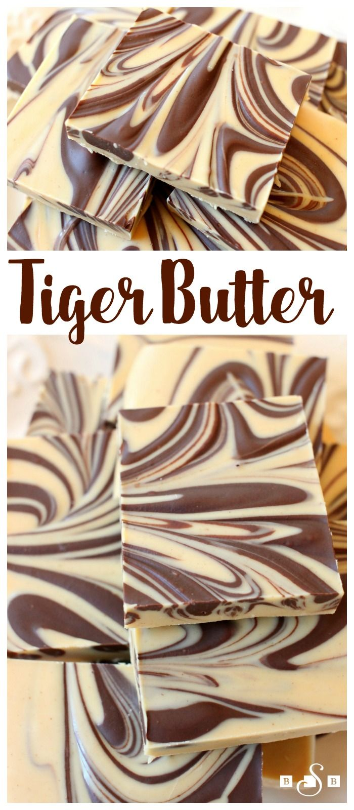 Tiger Butter Fudge – a simple but indulgent fudge recipe that requires only 3 ingr