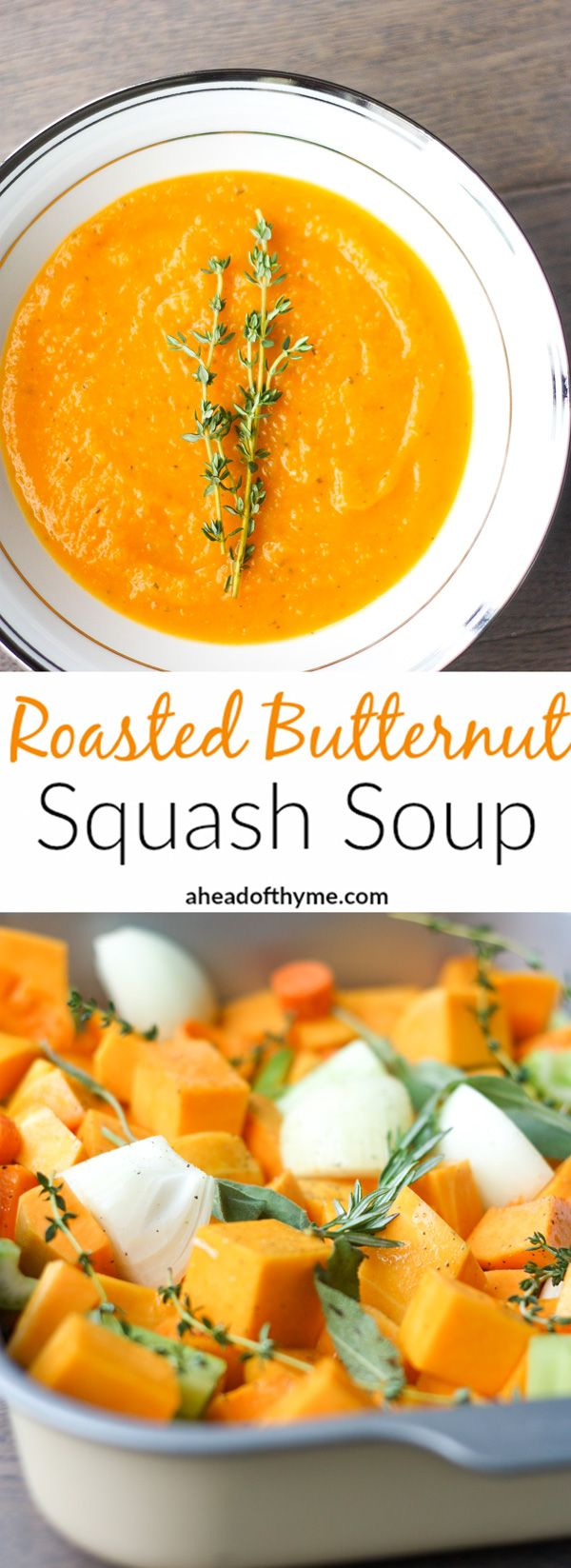 Roasted Butternut Squash Soup: This delicious roasted butternut squash soup sums u