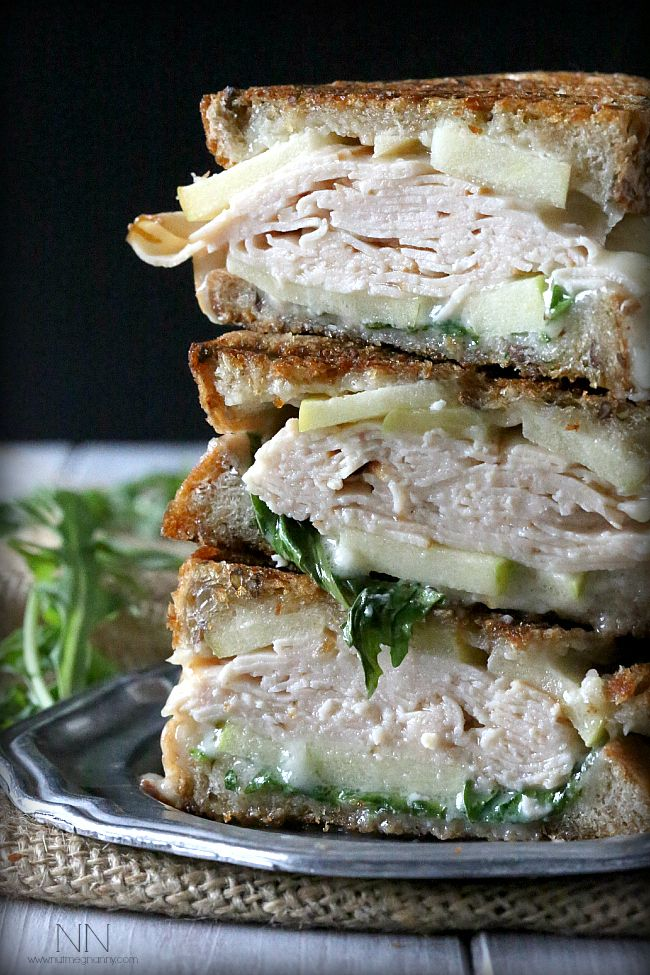 Make Turkey, Apple and Brie Paninis with your leftover Thanksgiving turkey