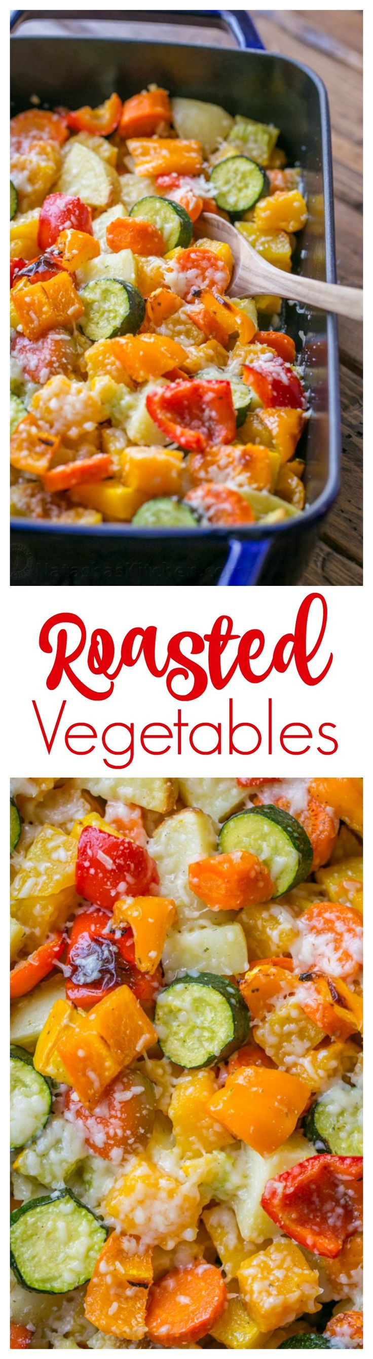 Roasted Vegetables uses the best of Fall veggies: butternut squash, potatoes, zucc