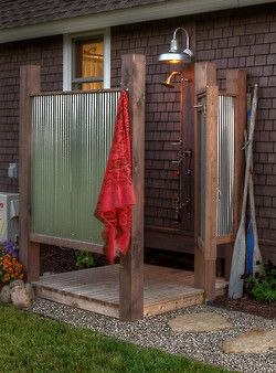 Something like this would be great to have. Near the pool and for after yard work?