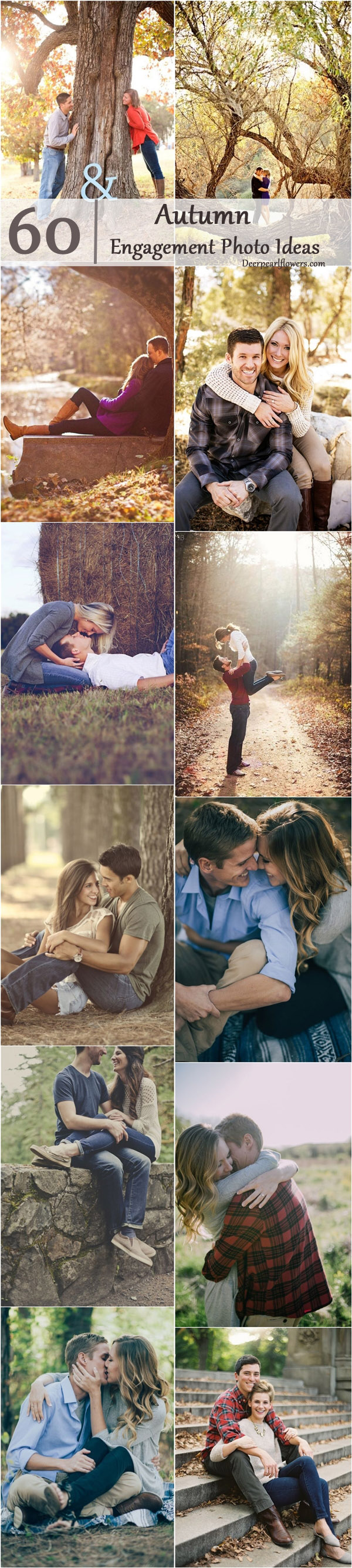 Fall Engagement Photo Shoot and Poses Ideas / www.deerpearlflow…