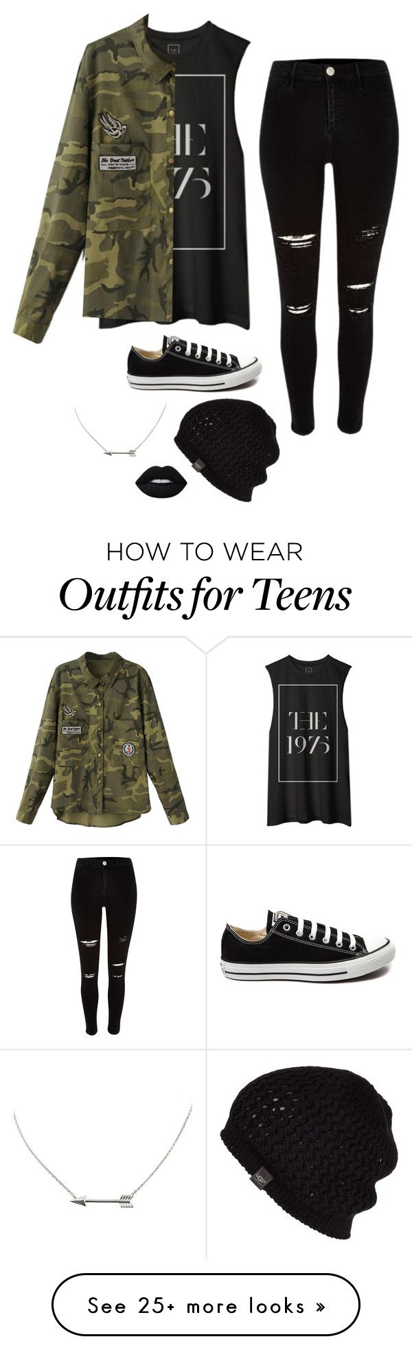 """Untitled #2762"" by if-i-were-famous1 on Polyvore featuring Converse, UGG Australi"