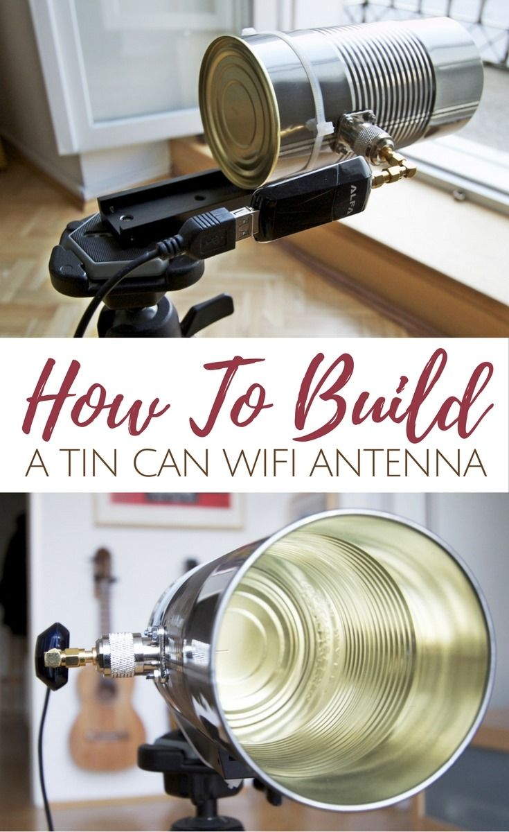 How To Build A Tin Can WiFi Antenna – This little hack improves your wifi range so
