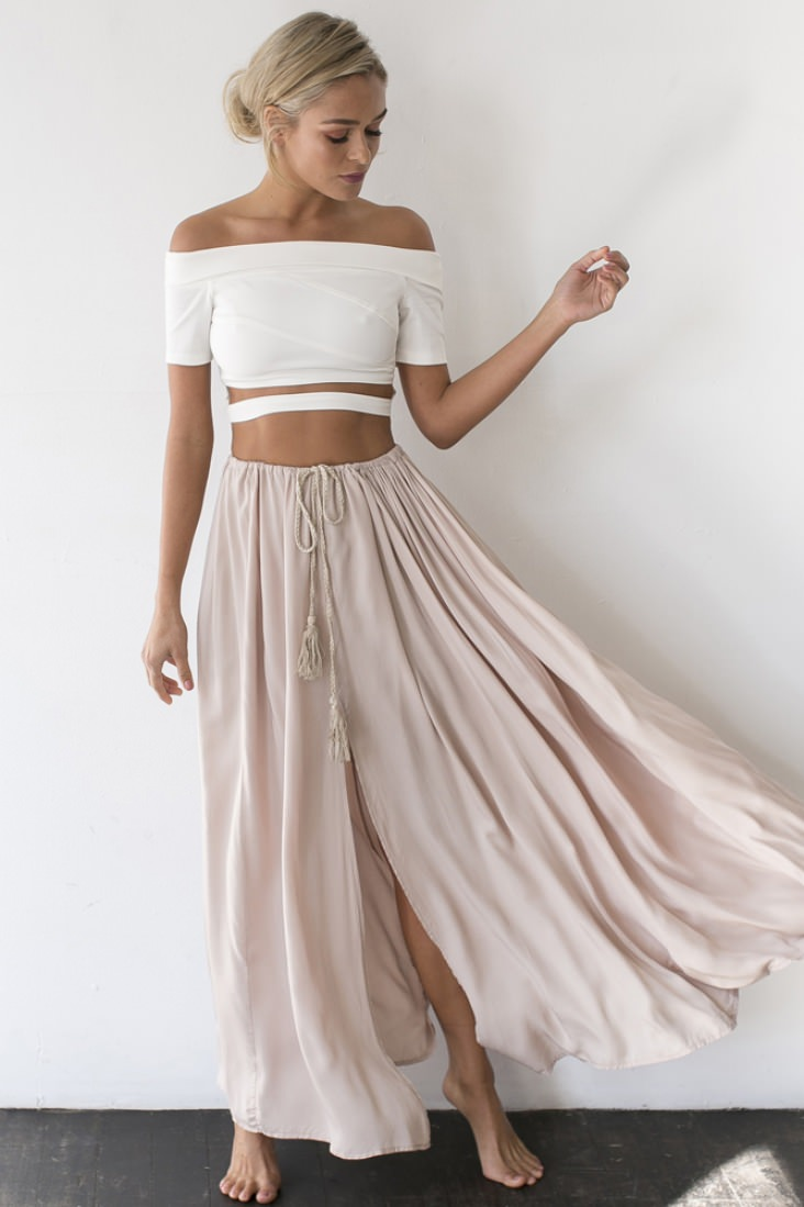 Add a little touch of boho to any outfit in the the Against The Tides Maxi Skirt!
