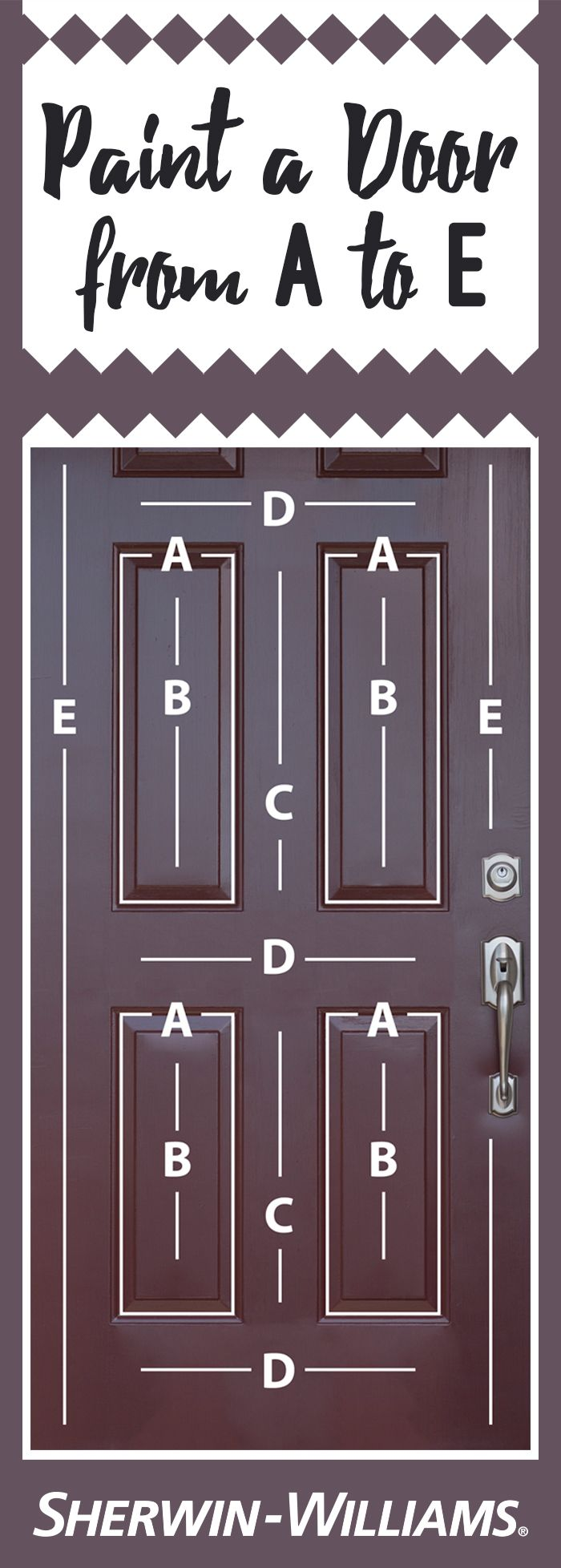 Looking for the best way to paint a beveled door? It's easy! Start with Area A,