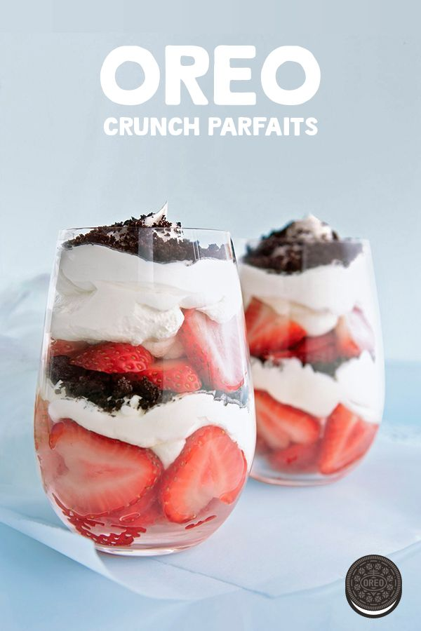 Whip up these easy, no bake OREO Crunch Parfaits for any day of the week – no spec