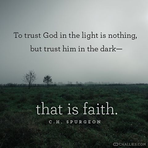 challies's photo: To trust God in the light is nothing, but trust him in the dar