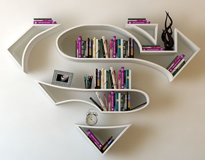 "Check out new work on my @Behance portfolio: ""Superman, logo, shelf, interrior, de"