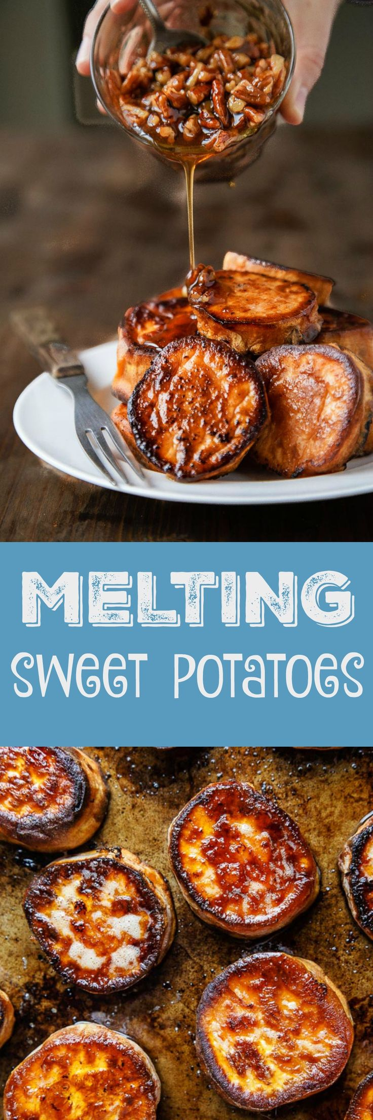 Melting potatoes, sweet potato version! The BEST oven roasted sweet potato recipe.