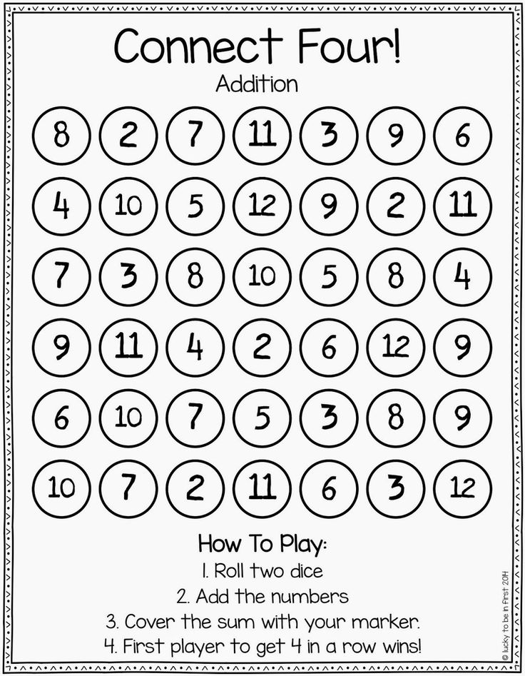 Use this Connect Four game to have students practice their Spanish numbers. They h