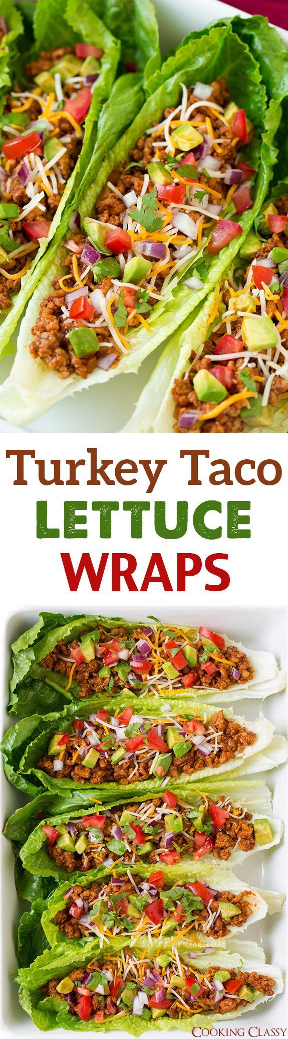 Turkey Taco Lettuce Wraps – these are incredibly delicious!! We liked them just as