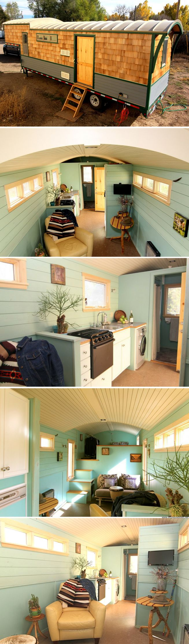 A 256 sq ft tiny house that currently available for sale in Colorado