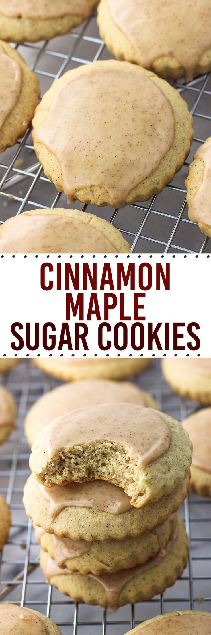 Cinnamon maple sugar cookies are tender and cinnamon-spiced, with a hint of maple