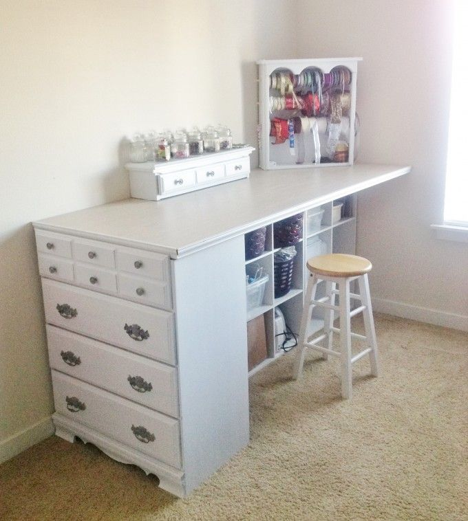 Turn a Old Dresser into a Craft Station…these are the BEST Upcycled & Repurp