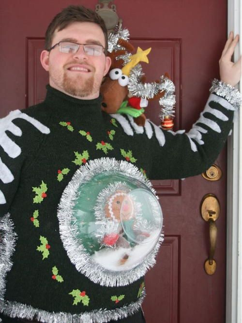 Snow Globe DIY Ugly Sweater | This ugly Christmas sweater inspired…and quite tac